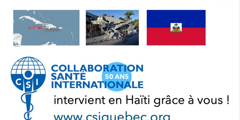 Aide d'urgence en Haïti